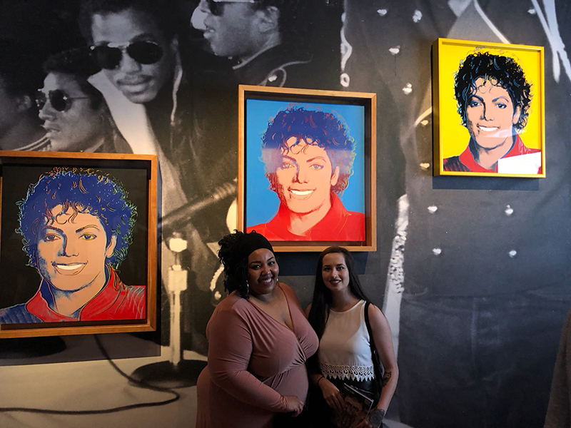 Michael Jackson fans at the opening for Michael Jackson On The Wall At the National Portrait Gallery